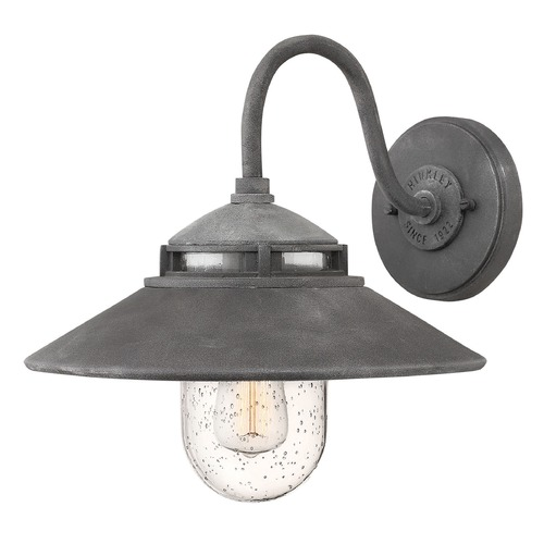 Hinkley Lighting Hinkley Lighting Atwell Aged Zinc Outdoor Wall Light 1110DZ