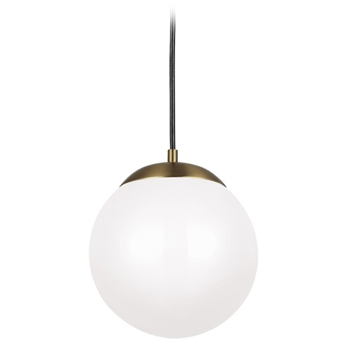 Sea Gull Lighting Sea Gull Lighting Leo - Hanging Globe Satin Bronze LED Pendant Light with Globe Shade 602093S-848