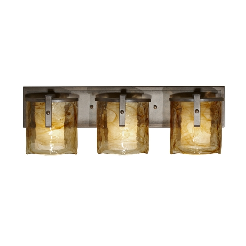 Feiss Lighting Modern Bathroom Light with Art Glass in Roman Bronze Finish VS18903-RBZ