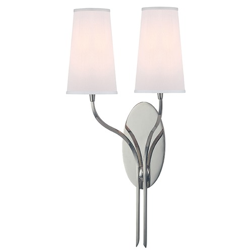 Hudson Valley Lighting Rutland 2 Light Sconce - Polished Nickel 3712-PN-WS