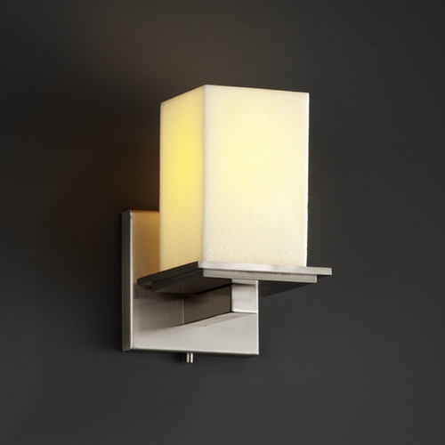 Justice Design Group Justice Design Group Candlearia Collection Sconce CNDL-8671-15-CREM-NCKL