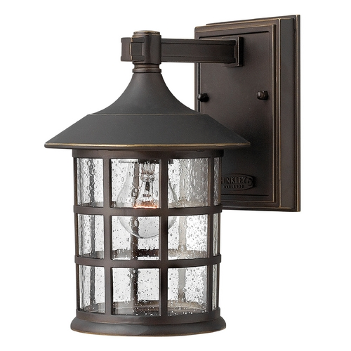 Hinkley Lighting Seeded Glass Outdoor Wall Light Oil Rubbed Bronze Hinkley Lighting 1800OZ-GU24
