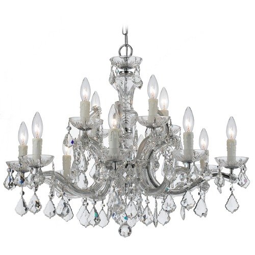 Crystorama Lighting Crystorama Lighting Maria Theresa Polished Chrome Crystal Chandelier 4379-CH-CL-SAQ
