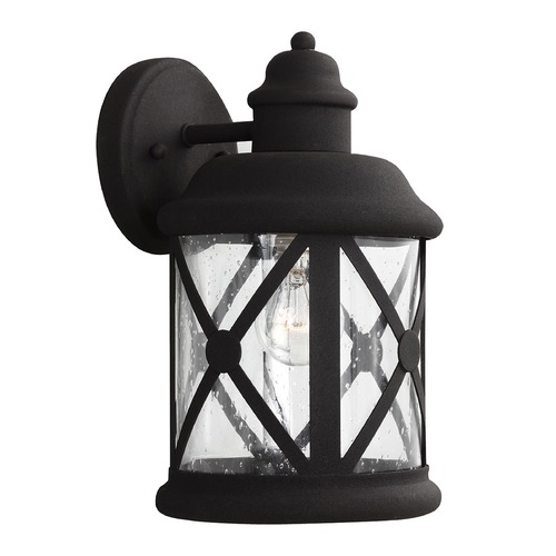 Sea Gull Lighting Sea Gull Lighting Lakeview Black Outdoor Wall Light 8621401-12