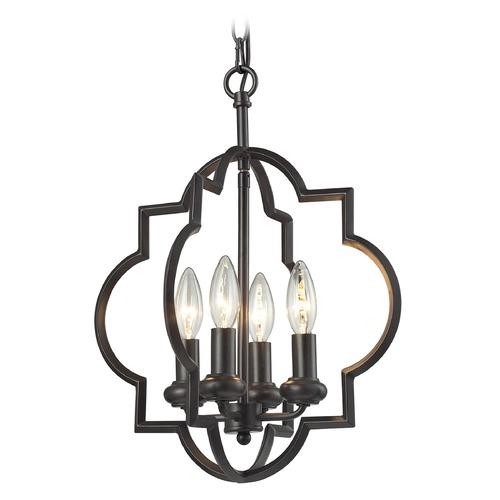 Elk Lighting Elk Lighting Chandette Oil Rubbed Bronze Pendant Light 31812/4