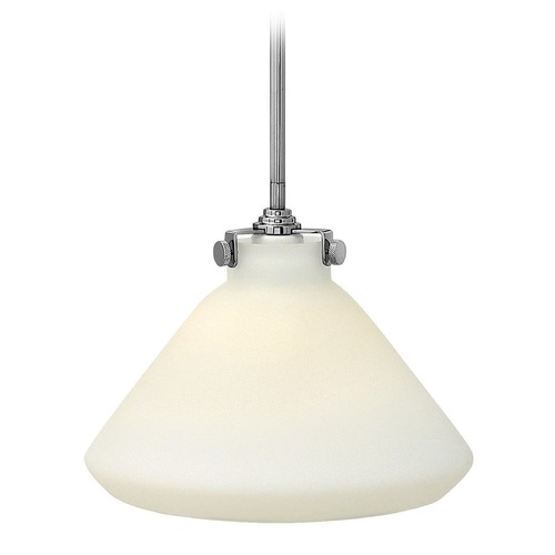Hinkley Lighting Hinkley Lighting Congress Chrome LED Mini-Pendant Light with Conical Shade 3131CM-LED