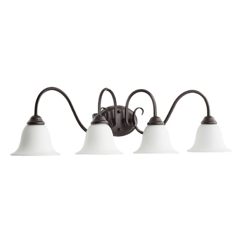 Quorum Lighting Quorum Lighting Spencer Oiled Bronze Bathroom Light 5110-4-186