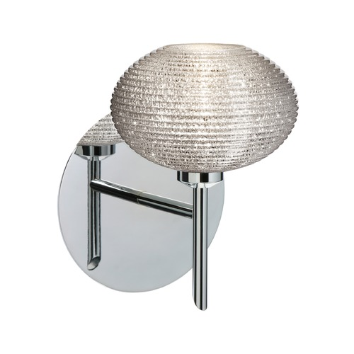Besa Lighting Besa Lighting Lasso Ribbed Glass Chrome LED Sconce 1SW-5612GL-LED-CR