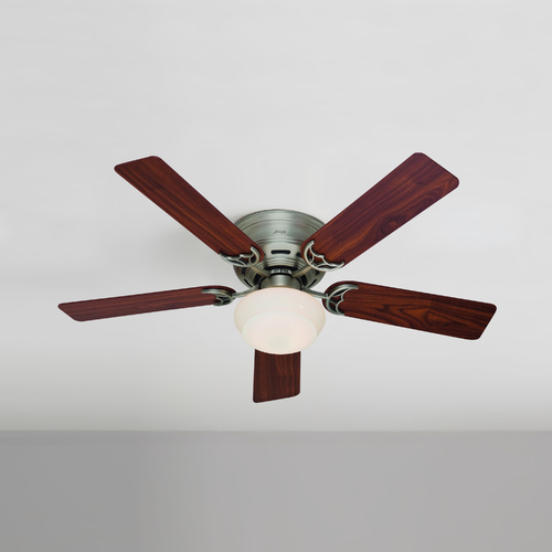 Hunter Fan Company 52-Inch Hunter Fan Low Profile III Plus Antique Pewter Ceiling Fan with Light 53074