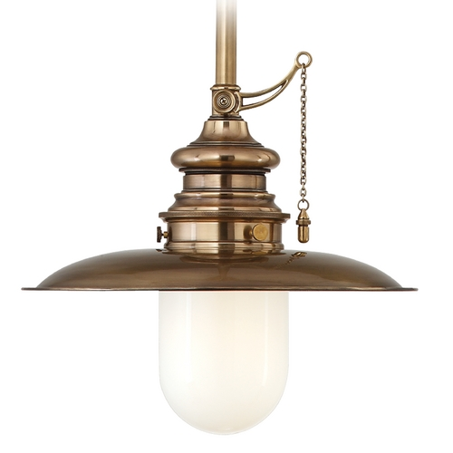Hudson Valley Lighting Mini-Pendant Light with White Glass 8810-AGB