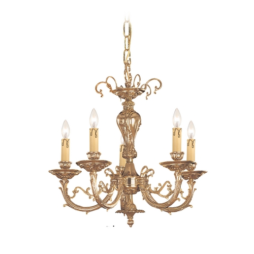 Crystorama Lighting Crystal Mini-Chandelier in Olde Brass Finish 485-OB