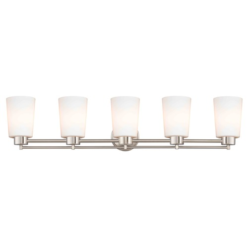 Design Classics Lighting Satin Nickel Bathroom Light 706-09 GL1027