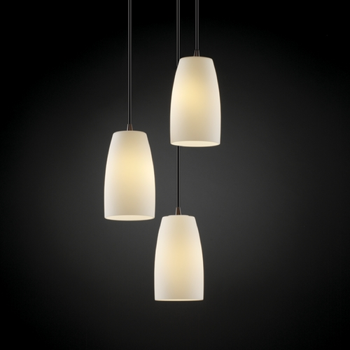 Justice Design Group Justice Design Group Fusion Collection Multi-Light Pendant FSN-8864-28-OPAL-DBRZ