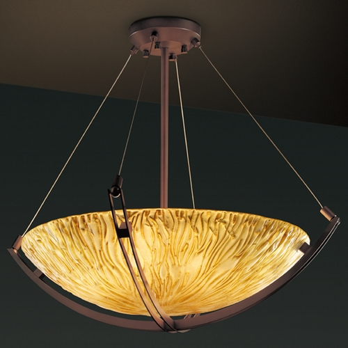 Justice Design Group Justice Design Group Veneto Luce Collection Pendant Light GLA-9722-35-AMBR-DBRZ