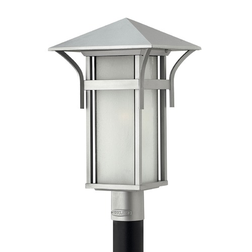 Hinkley Lighting Post Light with White Glass in Titanium Finish 2571TT