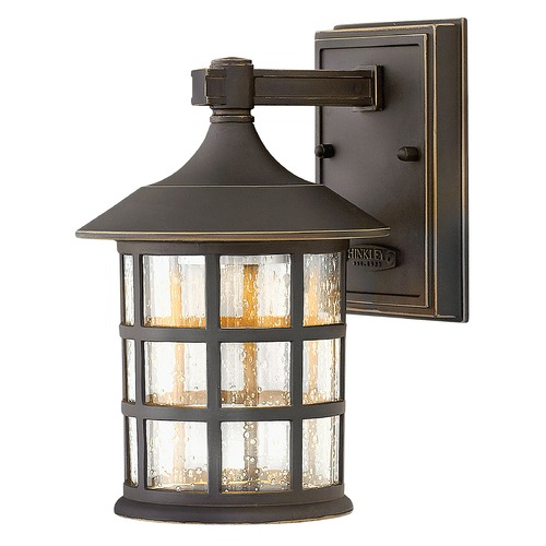 Hinkley Lighting LED Outdoor Wall Light with Clear Glass in Oil Rubbed Bronze Finish 1800OZ-LED
