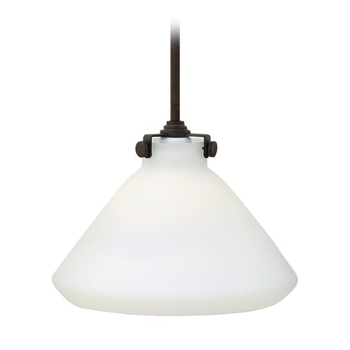Hinkley Lighting Hinkley Lighting Congress Oil Rubbed Bronze LED Mini-Pendant Light with Conical Shade 3131OZ-LED