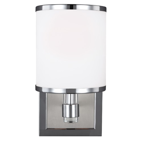 Feiss Lighting Feiss Lighting Prospect Park Satin Nickel / Chrome Sconce VS23301SN/CH