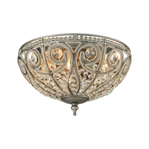 Elk Lighting Elk Lighting Elizabethan Weathered Zinc Flushmount Light 15993/3