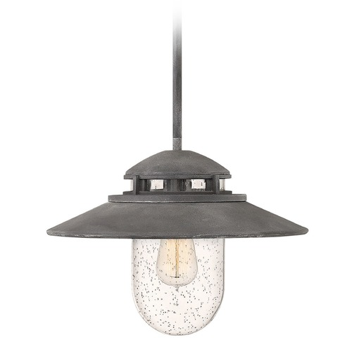 Hinkley Lighting Hinkley Lighting Atwell Aged Zinc Outdoor Hanging Light 1112DZ