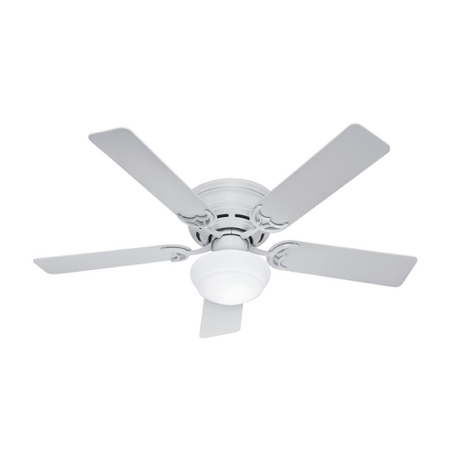 Hunter Fan Company 52-Inch Hunter Fan Low Profile III Plus White Ceiling Fan with Light 53075