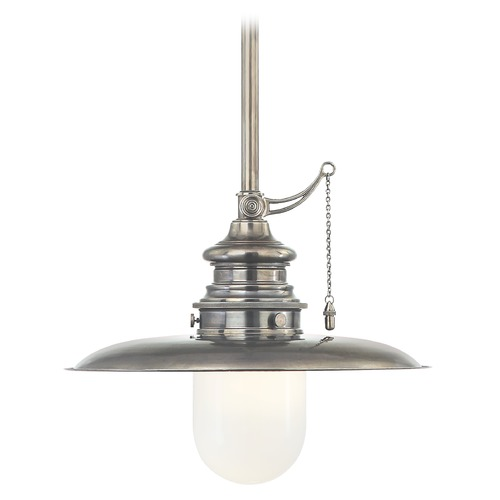 Hudson Valley Lighting Mini-Pendant Light with White Glass 8810-HN