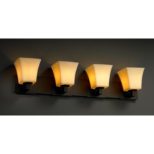 Justice Design Group Justice Design Group Candlearia Collection Bathroom Light CNDL-8924-40-AMBR-DBRZ