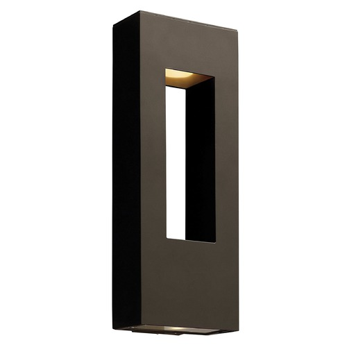 Hinkley Lighting Modern LED Outdoor Wall Light in Bronze Finish 1649BZ-LED