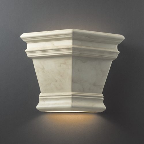 Justice Design Group Outdoor Wall Light in Antique Patina Finish CER-1411W-PATA