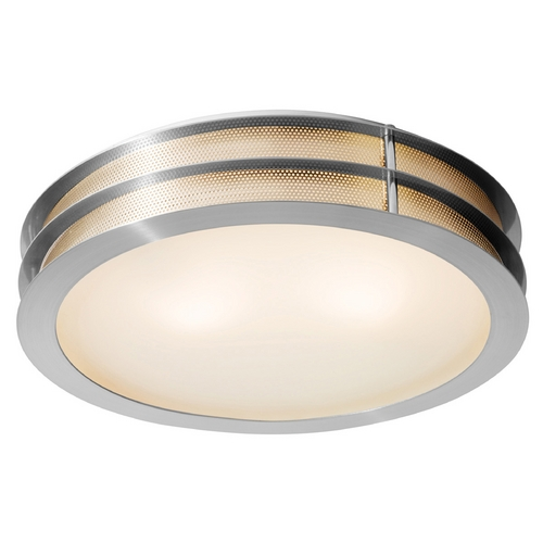 Access Lighting Access Lighting Iron Brushed Steel Flushmount Light C50131BSFSTEN1218BS