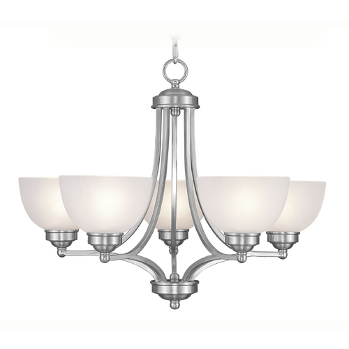 Livex Lighting Livex Lighting Somerset Brushed Nickel Chandelier 4215-91