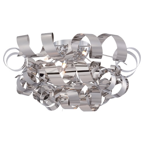Quoizel Lighting Quoizel Ribbons Polished Chrome Flushmount Light RBN1628C