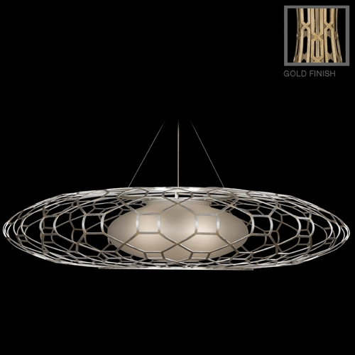 Fine Art Lamps Fine Art Lamps Allegretto Gold Burnished Gold Leaf with Subtle Brown Highlights Pendant Light with O 816940-2ST