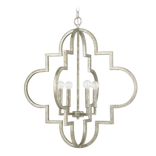 Capital Lighting Capital Lighting Ellis Antique Silver Pendant Light 4542AS