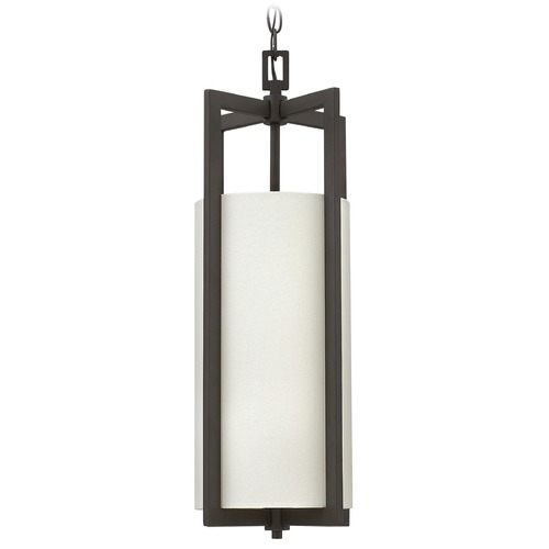 Hinkley Lighting Hinkley Lighting Hampton Buckeye Bronze Mini-Pendant Light with Cylindrical Shade 3217KZ