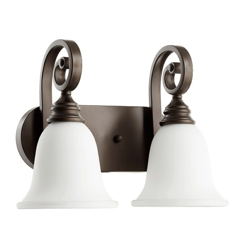 Quorum Lighting Quorum Lighting Bryant Oiled Bronze Bathroom Light 5154-2-186