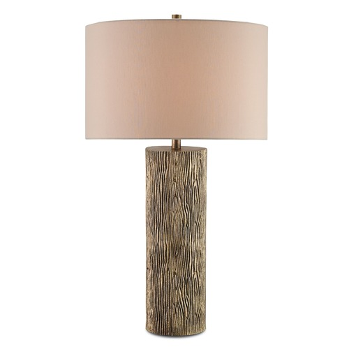 Currey and Company Lighting Currey and Company Landseer Antique Brass Table Lamp with Drum Shade 6970