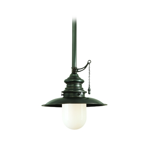 Hudson Valley Lighting Mini-Pendant Light with White Glass 8810-OB