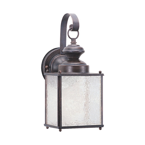 Sea Gull Lighting Outdoor Wall Light with Clear Glass in Textured Rust Patina Finish 8981BLE-08