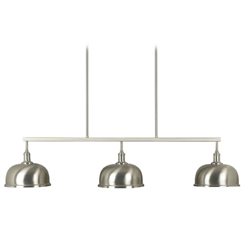 Kenroy Home Lighting Modern Island Light in Brushed Steel Finish 91617BS