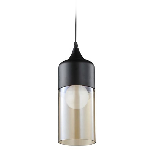 Avenue Lighting Two - Toned Cylinder Pendant HF9112-BK/BZ KIT W/LED T10 BULB