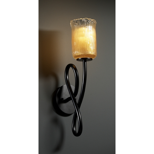 Justice Design Group Justice Design Group Veneto Luce Collection Sconce GLA-8911-16-GLDC-MBLK