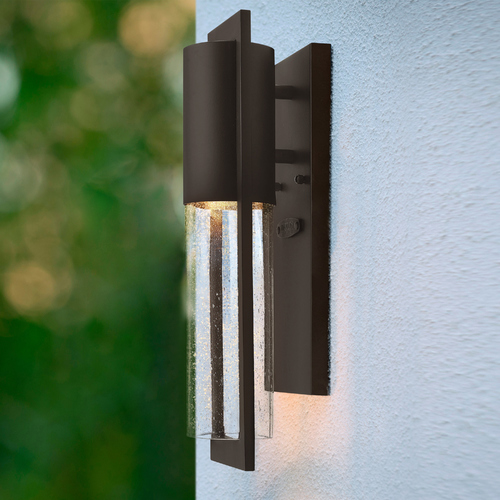 Hinkley Seeded Glass Outdoor Wall Light Bronze Hinkley 1326KZ