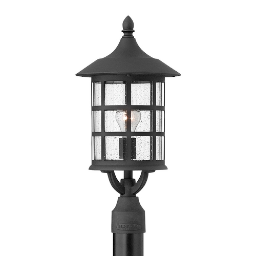 Hinkley Lighting Post Light with Clear Glass in Black Finish 1801BK-GU24