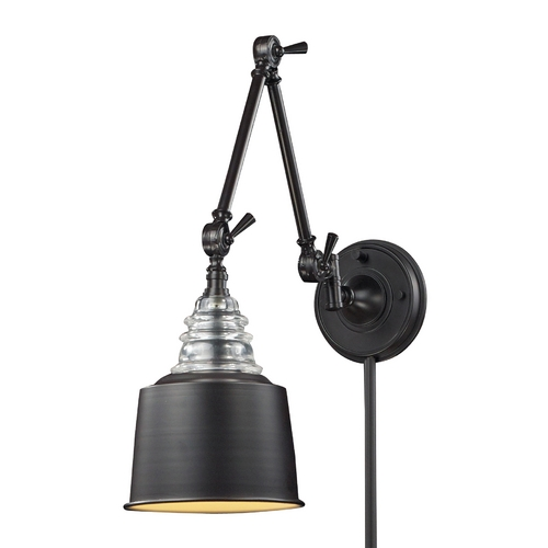 Elk Lighting LED Swing Arm Lamp in Oiled Bronze Finish 66815-1-LED