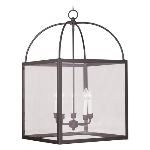 Livex Lighting Livex Lighting Milford Bronze Pendant Light with Square Shade 4038-07