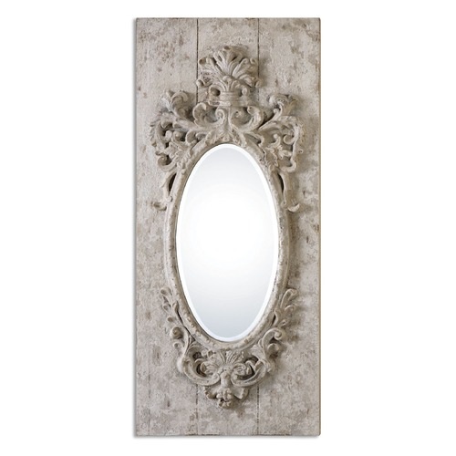 Uttermost Lighting Uttermost Guardia Gray-Ivory Oval Mirror 13927
