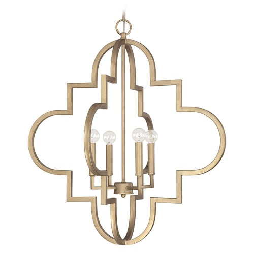 Capital Lighting Capital Lighting Ellis Brushed Gold Pendant Light 4542BG
