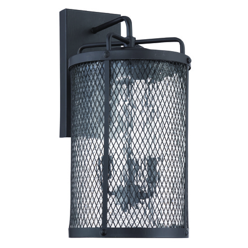 Craftmade Lighting Craftmade Lighting Blacksmith Matte Black Gilded Outdoor Wall Light Z2224-17