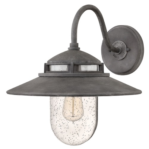 Hinkley Lighting Hinkley Lighting Atwell Aged Zinc Outdoor Wall Light 1114DZ
